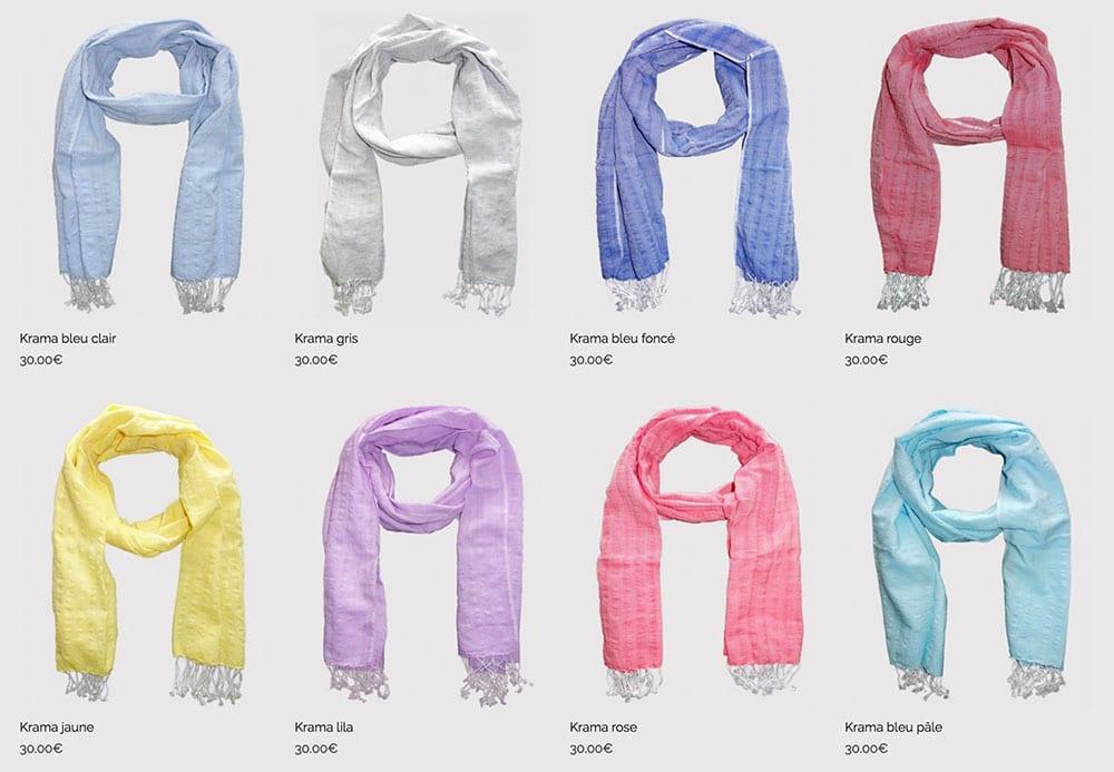 nouveaux foulards une couleur