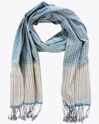 Schal krama traditionell blau Horizont