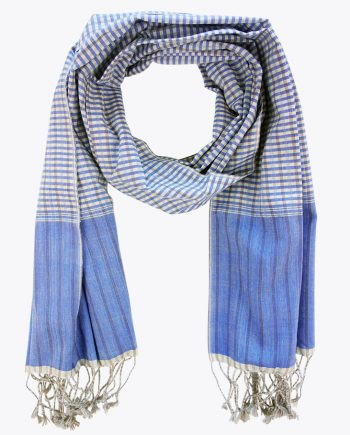 schal krama traditionell königsblaue