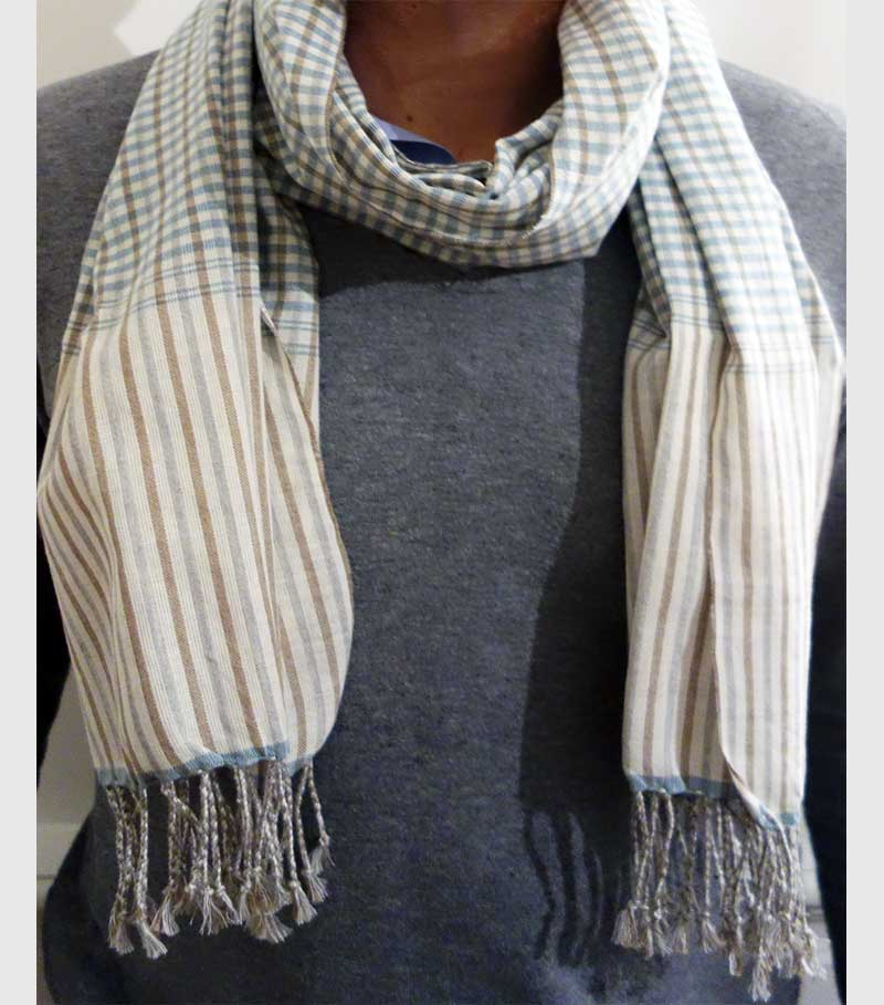 krama scarf khmer blue horizon