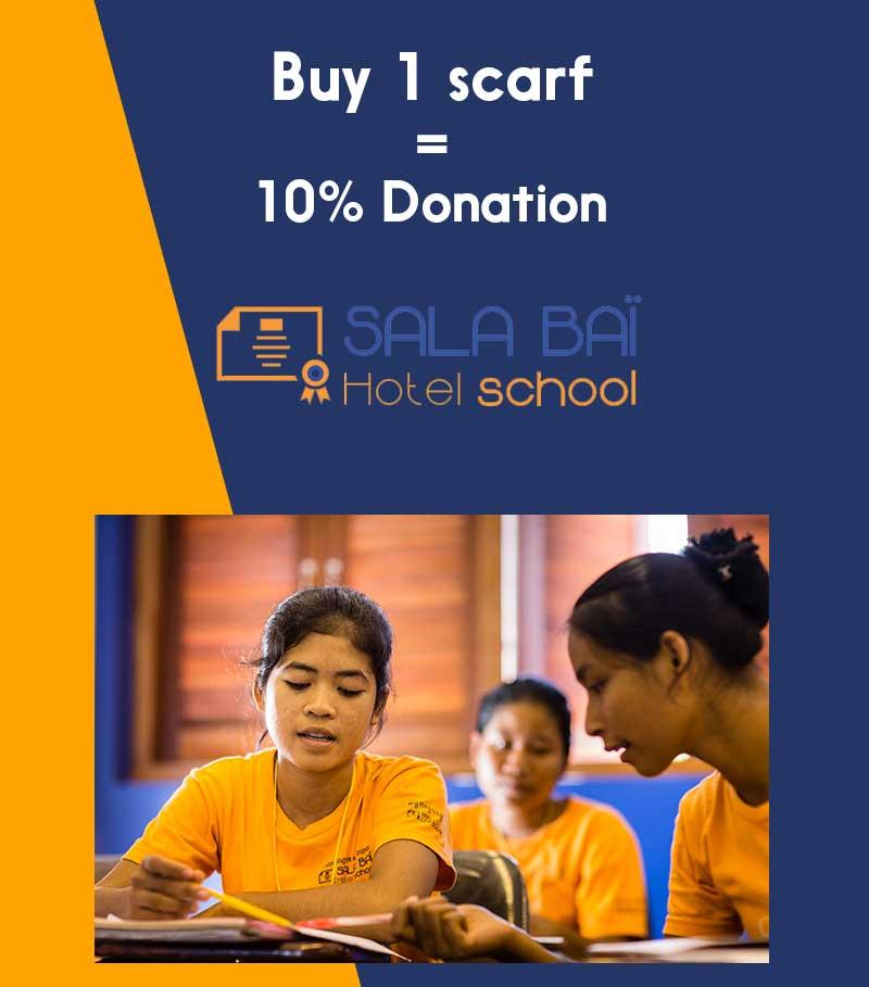 buy scarf donation sala bai