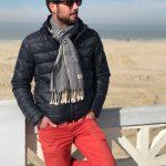 men scarf cambodian blue jean