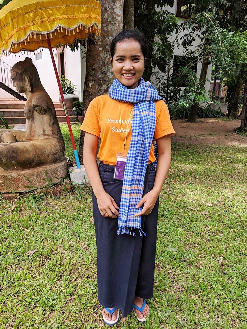 sala bai blue scarf krama