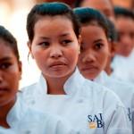 Cuisiniers à l'école Sala Baï