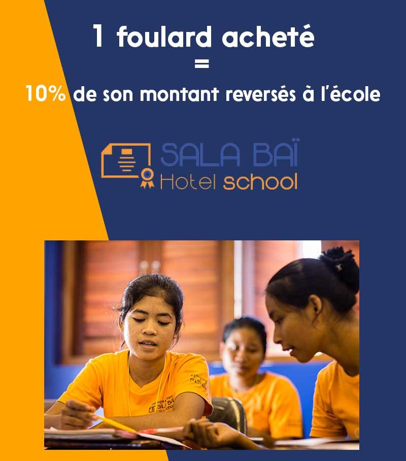 5 euros reversés à l'école Sala Baï