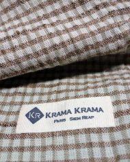 zoom krama en soie cuivre