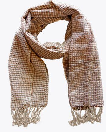 Krama en soie cuivre