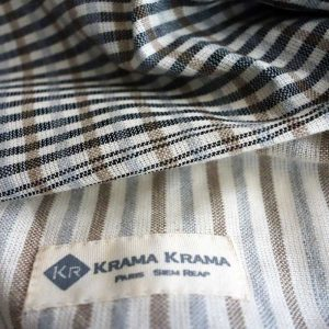 Krama noir Ivoire zoom