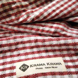 Krama Phnom Penh rose zoom