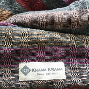 krama rose multicolore lai zoom