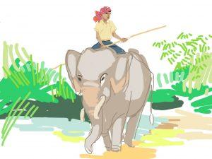 krama éléphant