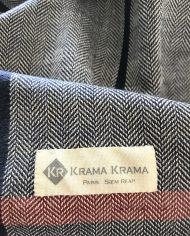 foulard motif à chevrons
