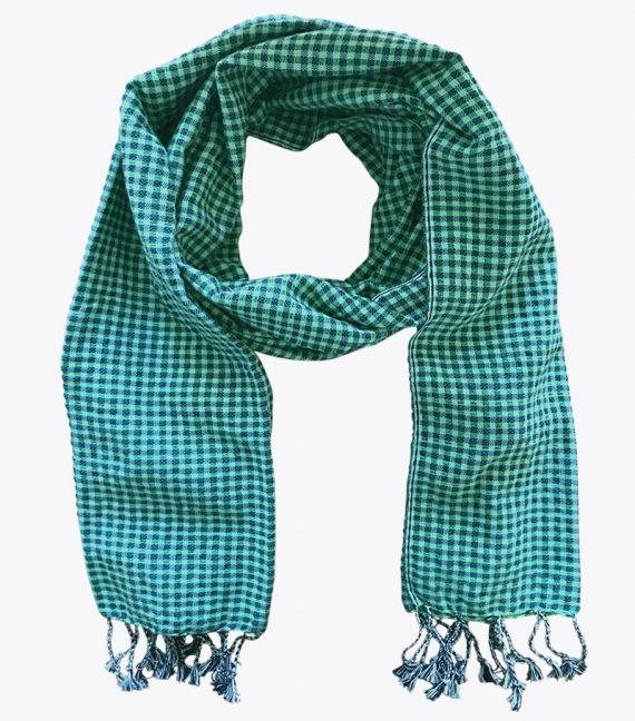 Krama vert Kep foulard en coton