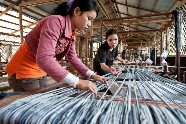 preparation tissage foulard